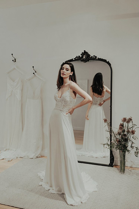 Highness gown from the 2018 Brides by Sarah Seven collection, as seen on Bride.Canada