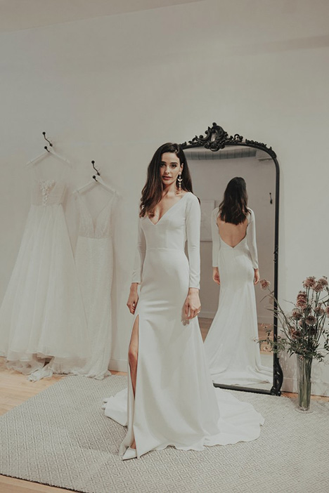Ivy gown from the 2018 Brides by Sarah Seven collection, as seen on Bride.Canada