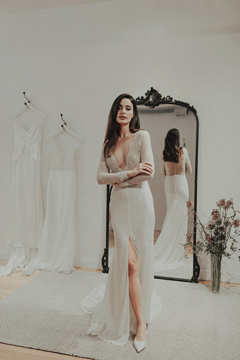 Lady gown from the 2018 Brides by Sarah Seven collection, as seen on Bride.Canada