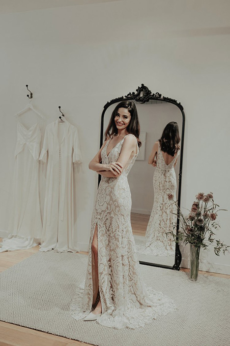 Noble gown from the 2018 Brides by Sarah Seven collection, as seen on Bride.Canada