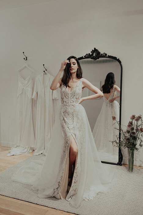 Queen gown from the 2018 Brides by Sarah Seven collection, as seen on Bride.Canada