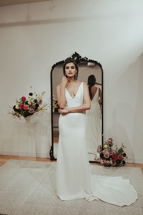 Belmont gown from the 2018 Brides by Sarah Seven collection, as seen on Bride.Canada