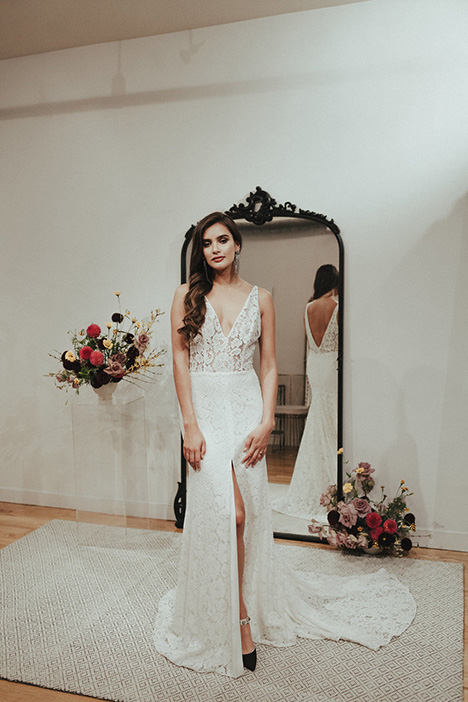 Lane gown from the 2018 Brides by Sarah Seven collection, as seen on Bride.Canada