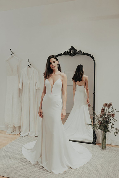 Royal gown from the 2018 Brides by Sarah Seven collection, as seen on Bride.Canada