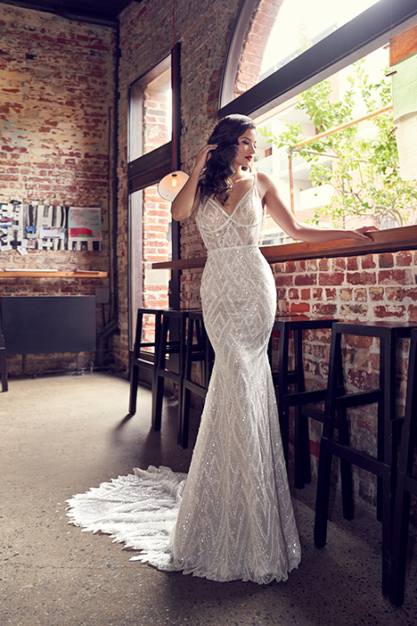 ZB 258 gown from the 2018 Zavana Bridal collection, as seen on Bride.Canada
