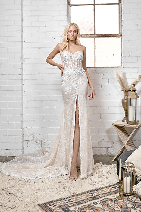 WA 211 gown from the 2019 White April collection, as seen on Bride.Canada