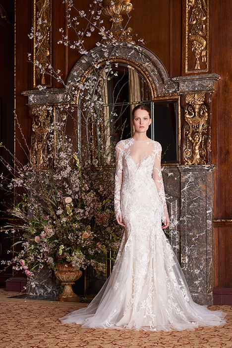 Jewel gown from the 2019 Monique Lhuillier collection, as seen on Bride.Canada