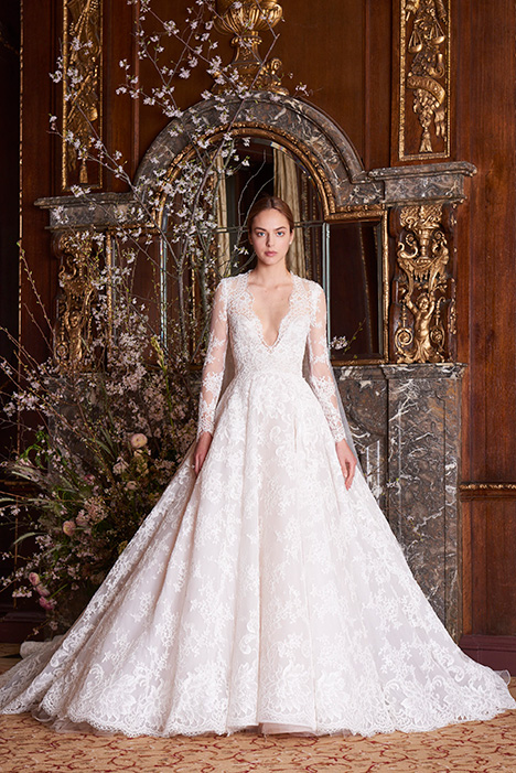 Majesty gown from the 2019 Monique Lhuillier collection, as seen on Bride.Canada