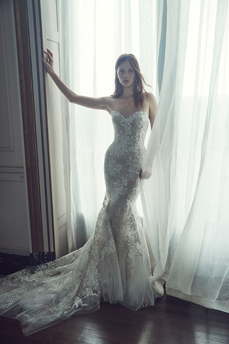 Larissa gown from the 2019 Monique Lhuillier collection, as seen on Bride.Canada