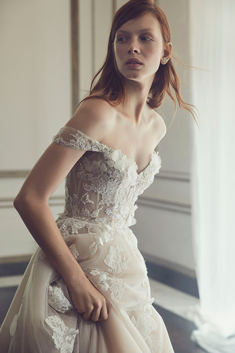 Walden gown from the 2019 Monique Lhuillier collection, as seen on Bride.Canada
