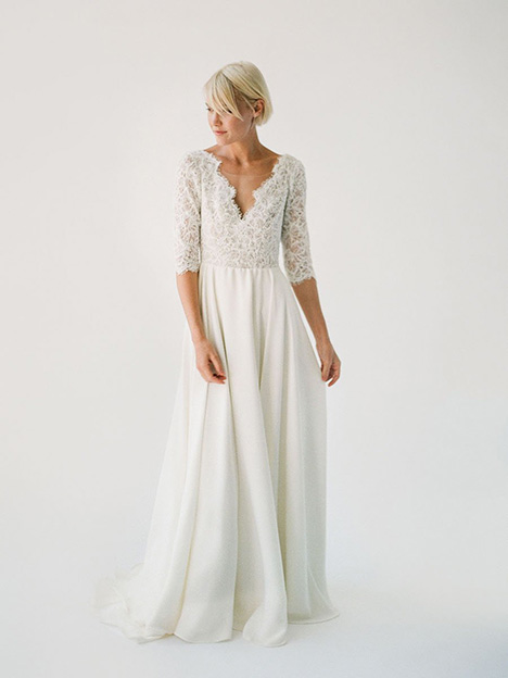 Alannah gown from the 2019 Truvelle collection, as seen on Bride.Canada
