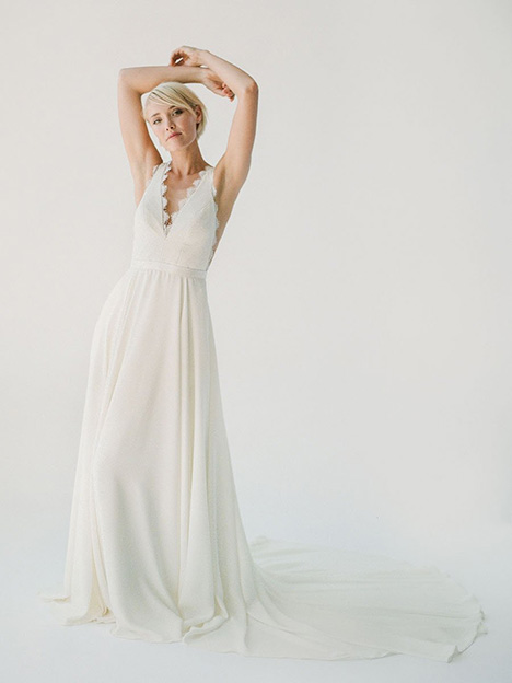 Bea gown from the 2019 Truvelle collection, as seen on Bride.Canada