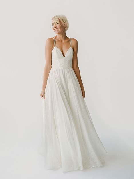 Pamela gown from the 2019 Truvelle collection, as seen on Bride.Canada
