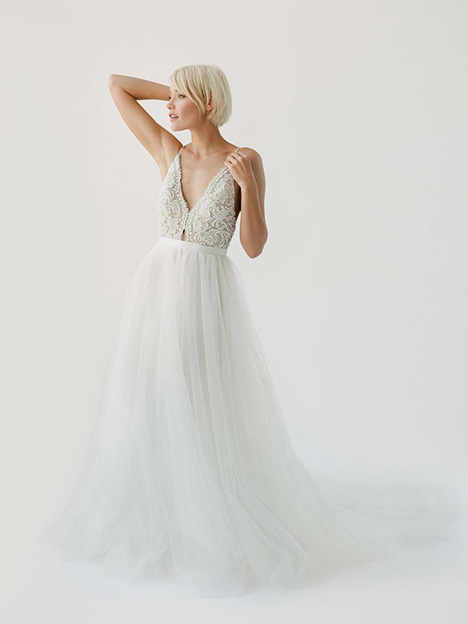 Sara gown from the 2019 Truvelle collection, as seen on Bride.Canada