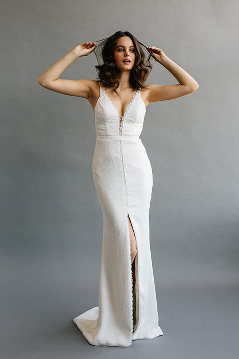 Adderley gown from the 2019 Laudae collection, as seen on Bride.Canada