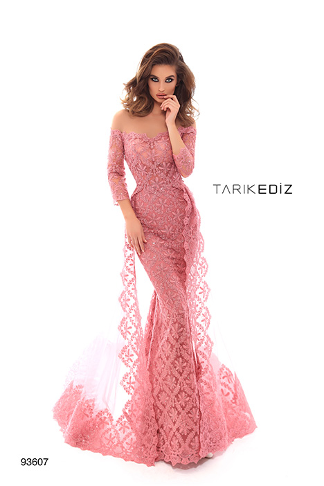 93607 gown from the 2019 Tarik Ediz: Evening Dress collection, as seen on Bride.Canada