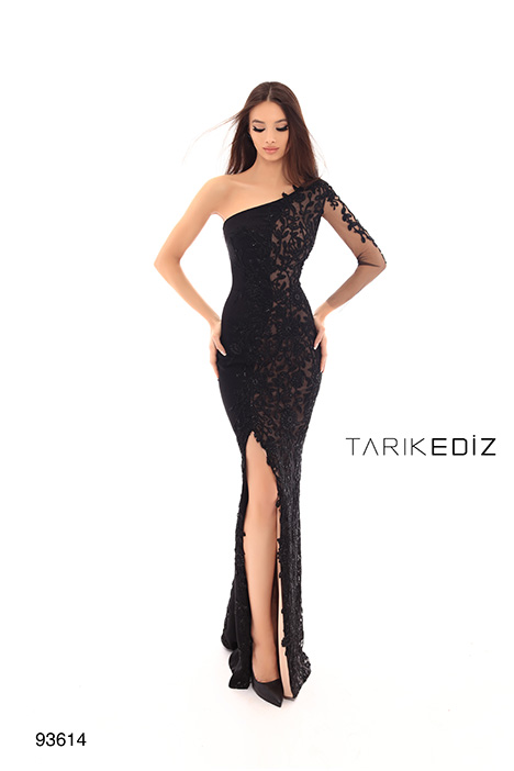 93614 gown from the 2019 Tarik Ediz: Evening Dress collection, as seen on Bride.Canada