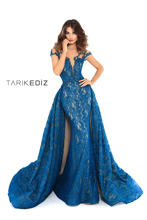 93624 (+ overskirt) gown from the 2019 Tarik Ediz: Evening Dress collection, as seen on Bride.Canada