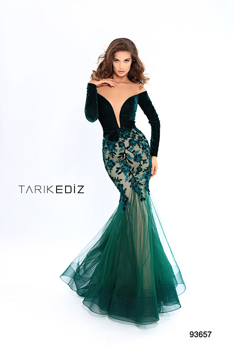 93657 gown from the 2019 Tarik Ediz: Evening Dress collection, as seen on Bride.Canada