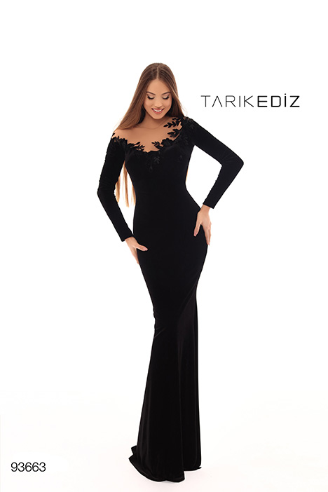 93663 gown from the 2019 Tarik Ediz: Evening Dress collection, as seen on Bride.Canada