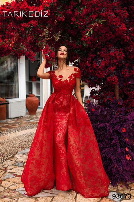 93673 (+ overskirt) gown from the 2019 Tarik Ediz: Evening Dress collection, as seen on Bride.Canada