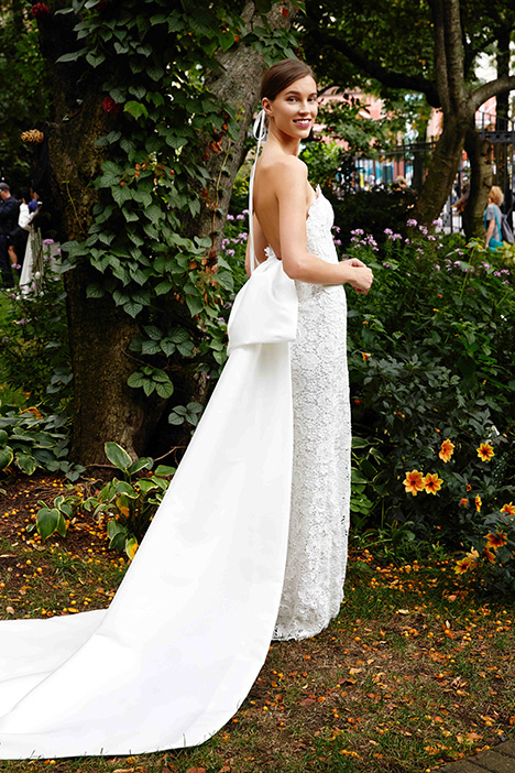 The Belfast gown from the 2019 Lela Rose collection, as seen on Bride.Canada