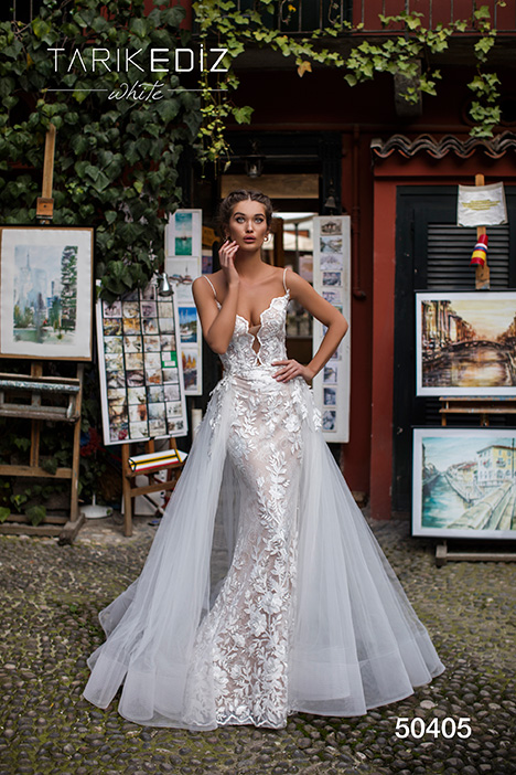 50405 gown from the 2019 Tarik Ediz: White collection, as seen on Bride.Canada