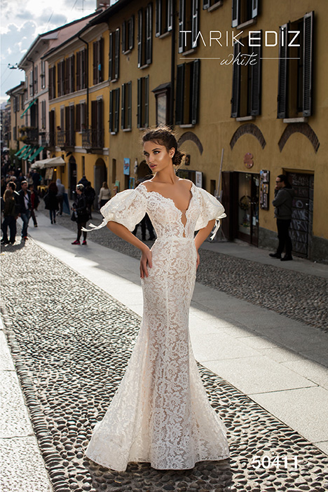 50411 gown from the 2019 Tarik Ediz: White collection, as seen on Bride.Canada