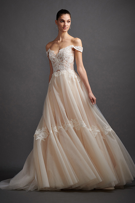 Jaden gown from the 2019 Lazaro collection, as seen on Bride.Canada