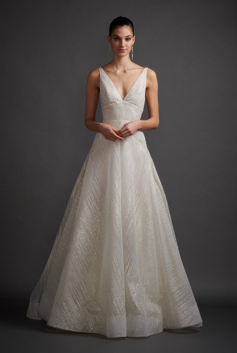 Celeste gown from the 2019 Lazaro collection, as seen on Bride.Canada
