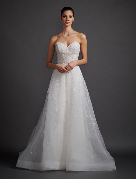Luna gown from the 2019 Lazaro collection, as seen on Bride.Canada
