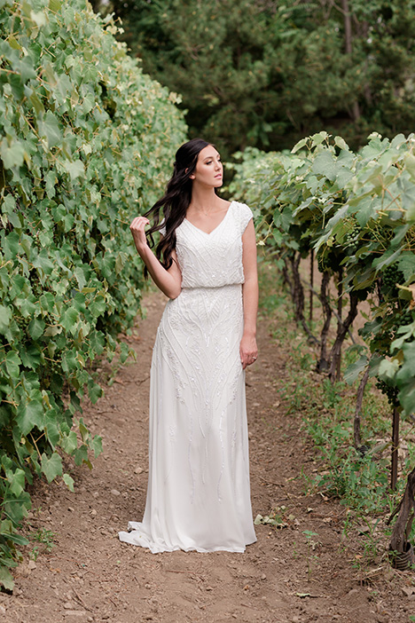 TR11974 gown from the 2019 Modest by Mon Cheri collection, as seen on Bride.Canada