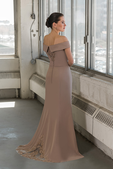 8814 (back) gown from the 2018 Bridalane: Mothers & Evening collection, as seen on Bride.Canada