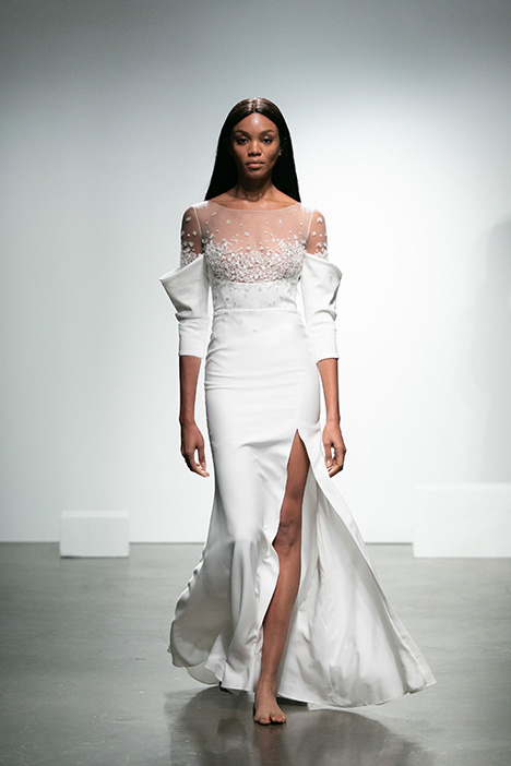 Noureev gown from the 2019 Rime Arodaky Bridal collection, as seen on Bride.Canada