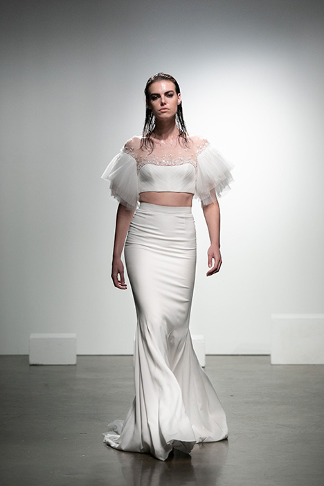 Stella gown from the 2019 Rime Arodaky Bridal collection, as seen on Bride.Canada