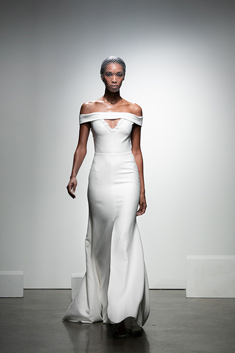 Carlson gown from the 2019 Rime Arodaky Bridal collection, as seen on Bride.Canada