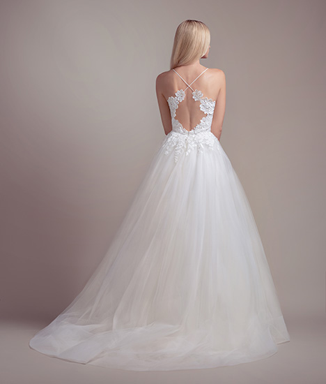 Clover (1900) (back) gown from the 2019 Blush by Hayley Paige collection, as seen on Bride.Canada
