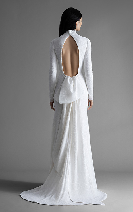 Palmer (4907) (back) gown from the 2019 Allison Webb collection, as seen on Bride.Canada