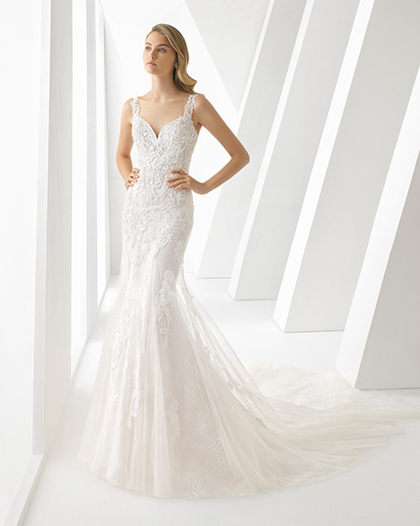 DARLENE (3A125) gown from the 2019 Rosa Clara collection, as seen on Bride.Canada