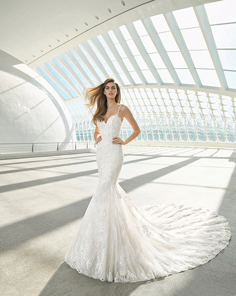 DARWIN (3A128) gown from the 2019 Rosa Clara collection, as seen on Bride.Canada