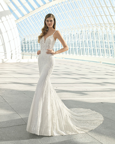 DEBRAH (3A145) gown from the 2019 Rosa Clara collection, as seen on Bride.Canada
