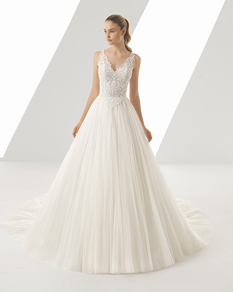 DIONE (3A177) gown from the 2019 Rosa Clara collection, as seen on Bride.Canada