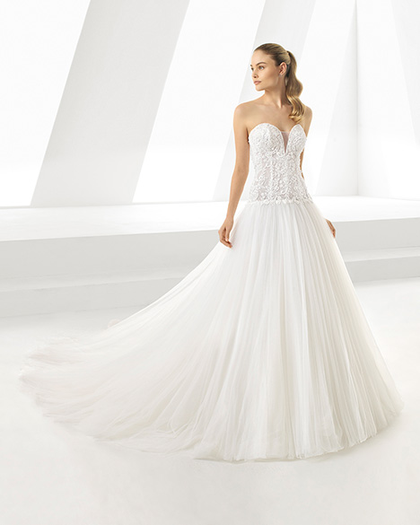 DOMINIQUE (3A191) gown from the 2019 Rosa Clara collection, as seen on Bride.Canada