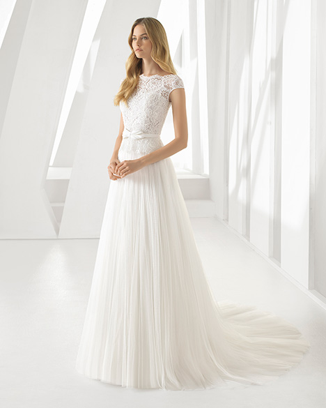 DONA (3A193) gown from the 2019 Rosa Clara collection, as seen on Bride.Canada