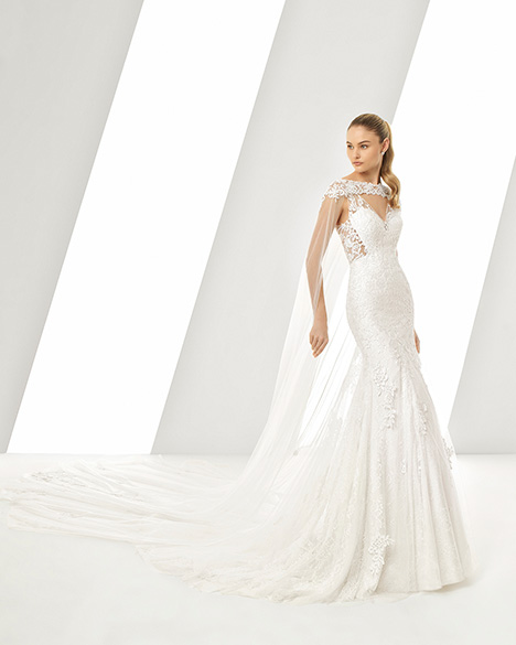 DASTON (3A229) (+ cape) gown from the 2019 Rosa Clara collection, as seen on Bride.Canada