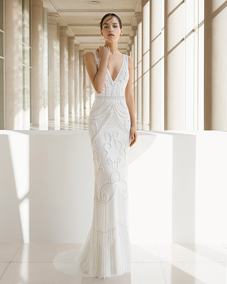 KARA (3K112) gown from the 2019 Rosa Clara: Soft collection, as seen on Bride.Canada