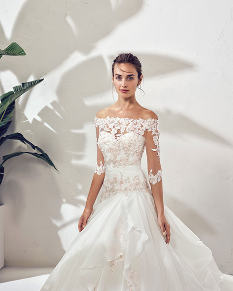 FORMA (3N141) (2) gown from the 2019 Adriana Alier collection, as seen on Bride.Canada