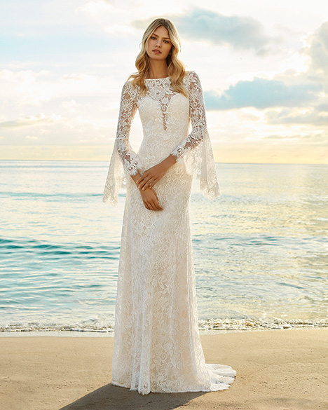 GENISTA gown from the 2019 Aire Barcelona Beach Wedding collection, as seen on Bride.Canada