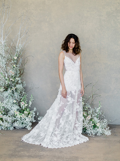 Dove gown from the 2019 Claire Pettibone: Romantique collection, as seen on Bride.Canada
