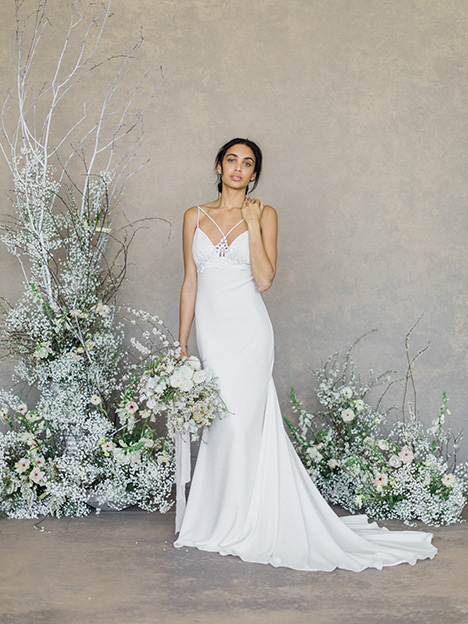 Lotus gown from the 2019 Claire Pettibone: Romantique collection, as seen on Bride.Canada